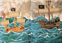 I adapted this pirate ship project for two age-groups. The younger classrangesfrom almost-three to just-turned-four, and the older class comprises four tosixyear olds, plus one eight year old. ...