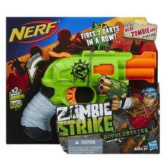 Nerf Zombie Hammer Action Double Strike Elite Dart Blaster Contains 2 Darts #NERF #zombiestrike #doublestrike #dartblaster