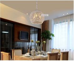 199.50$  Buy now - http://aliouq.worldwells.pw/go.php?t=32297788079 - crystal pendent lamp modern brief luxurious round crystal Dia30cm led E14*3 heads pendant light decor pendent lamp 1634 199.50$