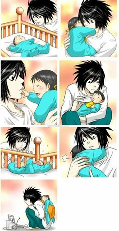 Image de L, death note, and anime Death Note Funny, Death Note Fanart, Death Note デスノート, Death Note Light, Manga Anime, Art Manga, Mpreg Anime, Familia Anime, L Lawliet