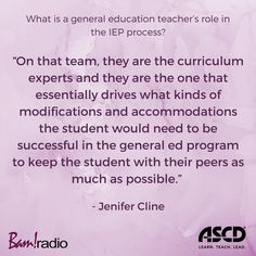 The IEP process is a team effort. Listen to this podcast to learn about each educator's role. Instructional Design, A Team, Curriculum, Need To Know, Effort, Leadership, Success, Student, Teaching