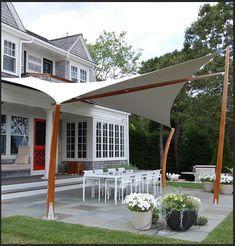 Pergola For Small Backyard Deck Shade, Backyard Shade, Sun Sail Shade, Outdoor Shade, Pergola Shade, Backyard Patio, Sails For Shade, Aluminum Pergola, Wood Pergola