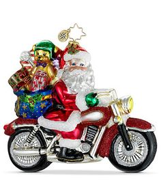 Christopher Radko Christmas Ornament, Rebel with a Claus