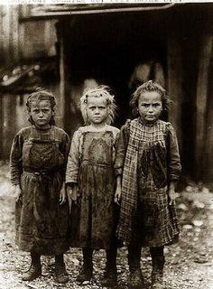 Child labor ~ Oyster shuckers, Port Royal, South Carolina, 1910s
