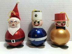 Vintage Hard Plastic SANTA Toy Soldier SNOWMAN Christmas Ornaments HONG KONG #Unbranded #Christmas Snowman Christmas Ornaments, Toy Soldiers, Vintage Holiday, Cool Toys, Childhood Memories, Hong Kong, Garland, Santa, Plastic