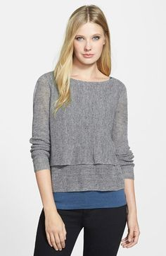 Eileen Fisher The Fisher Project Bateau Neck Tiered Linen Blend Sweater available at #Nordstrom