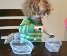 Water Transfer Challenge | Can simulate feeding but with water. Also to address appropriate grasp and motor control.