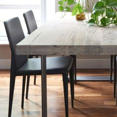 Modena Distressed Wood & Metal Dining Table