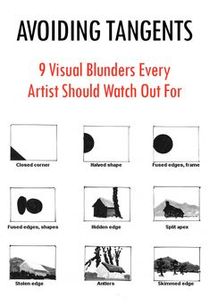 Avoiding tangents, 9 visual blunders every artist should watch out for with composition Composition Design, Composition Painting, Art Basics, Photography Basics, Photography Lessons, Design Theory, Principles Of Art, Graphic Design Tips, Elements Of Art