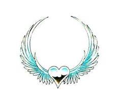 angel wing/heart tattoo