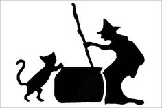 Printable Fence Template   44 Spooky Cat Pumpkin Stencils you'll love carving this Halloween