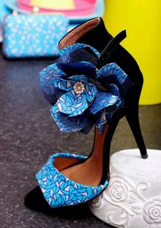 Trendy High Heels For Ladies : Picture DescriptionWith its combination of elegance and style, these L'aviye open toe stiletto sandals are sure to get you turning heads anywhere you go. Designed with Fab Shoes, Cute Shoes, Me Too Shoes, African Inspired Fashion, African Print Fashion, Ankara Fashion, African Prints, Stilettos, High Heels