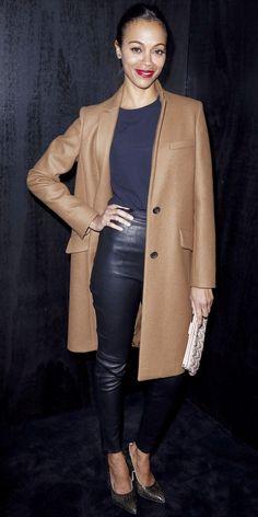 Zoe Saldana took in Miu Miu wearing stylish separates