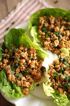 Our FAVORITE Healthy Turkey Lettuce Wraps with amazing flavors!  eat-yourself-skinny.com