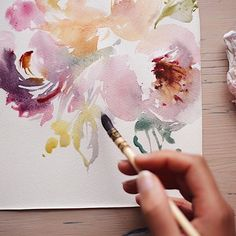 Wispy and watery blooms for today! #watercolorart #watercolor #painting #artistic #art #watercolorpainting #flower #flowerpainting