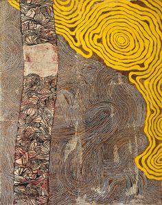 Australis Peinture abstraite d'inspiration ethnique par Cat-b