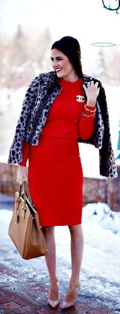♥ purple jacket; red dress; pink heels = RHS!