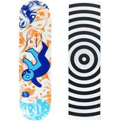 Alien Workshop Skateboard Deck Premonitions Falling 8.125' Target Grip, Blue