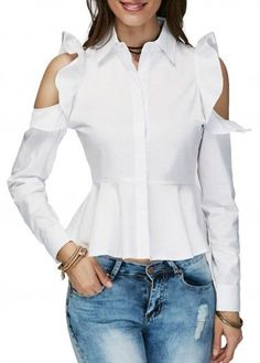 trendy tops for women online on sale Cold Shoulder Shirt, Shoulder Shirts, Trendy Tops For Women, Blouses For Women, Casual Outfits, Fashion Outfits, Style Fashion, Tunic Shirt, Blouse Styles