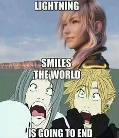 RUN FOR YOUR LIVES!!!!! <------ OMG, Cloud and Sephiroth's faces! XD