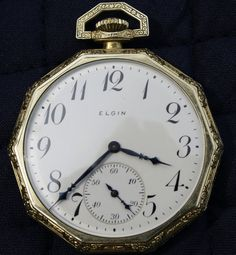Elgin Pocket Watch Size 12 Vintage 1922 by RoseRidgeMemories, $310.00