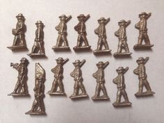 Lot of 14 Vintage Unpainted Flats Lead? Soldiers MARCHING, Band & FLAG BEARER  | eBay