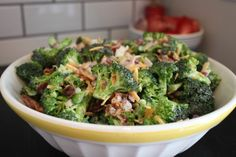 Delicious classic broccoli salad although I am not using 1/2 cup of sugar.
