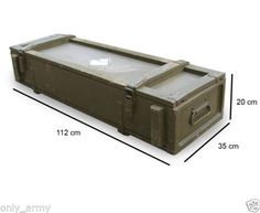 Soviet Army Issue Wooden Storage Tool Box Crate Chest Ammo Grenade With Handles