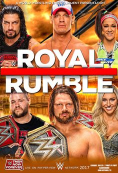 WWE Royal Rumble 2017 Poster by Dinesh-Musiclover on @DeviantArt