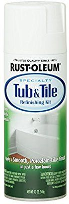 Amazon.com: Rust-Oleum 280882 Specialty Tub and Tile Spray Paint, 12-Ounce, White: Home Improvement