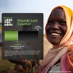 Wow! Our Members & Subscribers have lost an estimated 1.5 Million pounds* so far as part of our Lose For Good® campaign!     GREAT job! This could help give over 30,000 families in southern Sudan a fuel-efficient stove providing improved health, safety, and environmental benefits**. #WWLoves