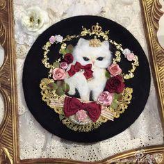 Cute Lolita berets made by Chinese Lolita, view more >>> https://www.facebook.com/MyLolitaDress/posts/1111546448912571