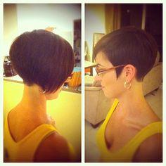 I cut my babies hair off!! I love short hair! #haircut #shorthair #shaved #nape