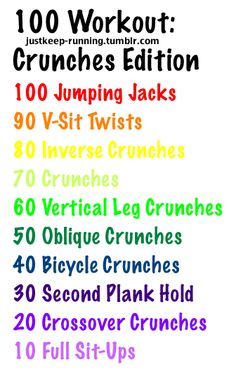100 Workout Crunches Edition