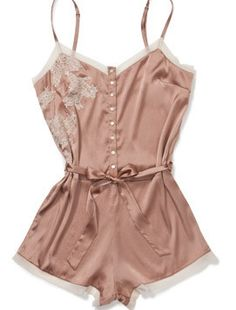 Elle Macpherson Intimates Obsidian Maria Bodysuit Blush Pink - Wouldn't this be lovely with darting to accommodate a bigger bust? Lingerie Latex, Jolie Lingerie, Pretty Lingerie, Beautiful Lingerie, Lingerie Sleepwear, Nightwear, Sexy Lingerie, Revealing Lingerie, Pijamas Women