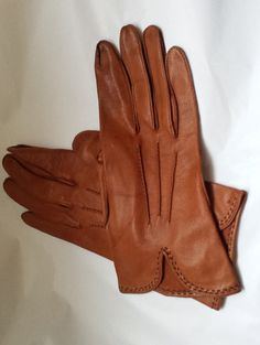 Vintage gloves ladies leather gloves driving by Prettyvintagehouse