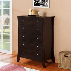 Furniture of America Hamilton Espresso 5-drawer Chest | Overstock™ Shopping - Great Deals on Dressers