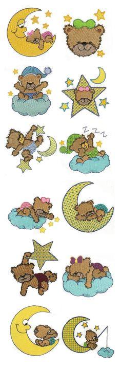 Bedtime Bears design set available for instant download at designsbyjuju.com