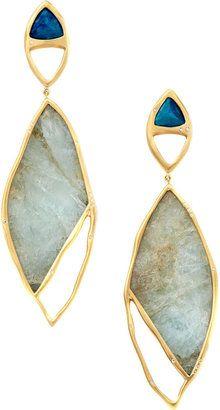 ShopStyle: Monique Péan Cavansite & Aquamarine Earrings