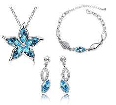 Crystal flower Necklace Set - 786shop4you