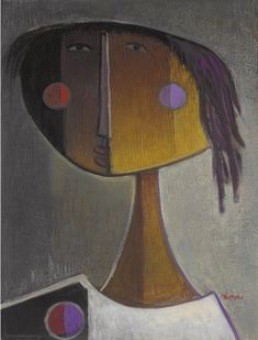 Angel Botello (Puerto Rican Untitled signed 'Botello' (lower right) oil on board 24 x 18 in. x cm. Puerto Ricans, American Art, Museum, Oil, Abstract, Gallery, Board, Artwork, Artist