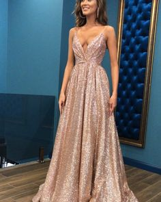Sparkling Sexy Sling Deep V Large Dress – party dresses long,long prom gowns,night gown dress,dress beautiful,cocktail dress Grad Dresses, Homecoming Dresses, Dresses Dresses, Dress Prom, Sparkly Prom Dresses, Cheap Dresses, Party Dress, Best Prom Dresses, Bridesmaid Dresses