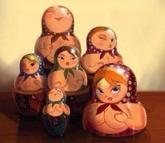 Горячие матрешки))