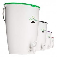 Urban Composter is a new stylish Australian design Bokashi bucket that maixmises capacity and uses an easy to handle Bokashi spray. New improved easy-clip lid and internal tap design!
