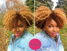 Beautiful color...Creme of Nature medium warm brown and ginger blonde!!!