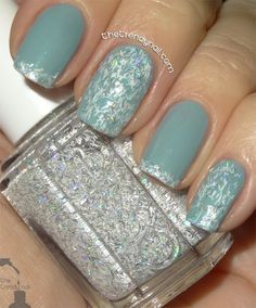 Love this color and the glitter is so pretty!