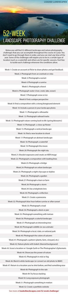 52-Week Landscape Photography Challenge
