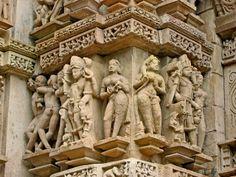 Sculptures, Khajuraho, Madhya Pradesh, India