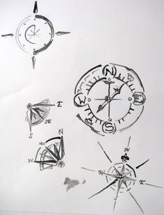 Compass With Feather Tattoo Designs - Viewing Gallery
