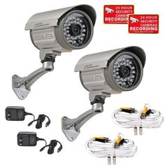 Special Offers - VideoSecu 2 of Outdoor Day Night Vision Infrared Bullet Security Cameras Built-in SONY CCD Wide Angle Lens for CCTV DVR Home Surveillance System with Power Supplies and Extension Cables IRX36S A12 - In stock & Free Shipping. You can save more money! Check It (April 09 2016 at 02:48AM)…